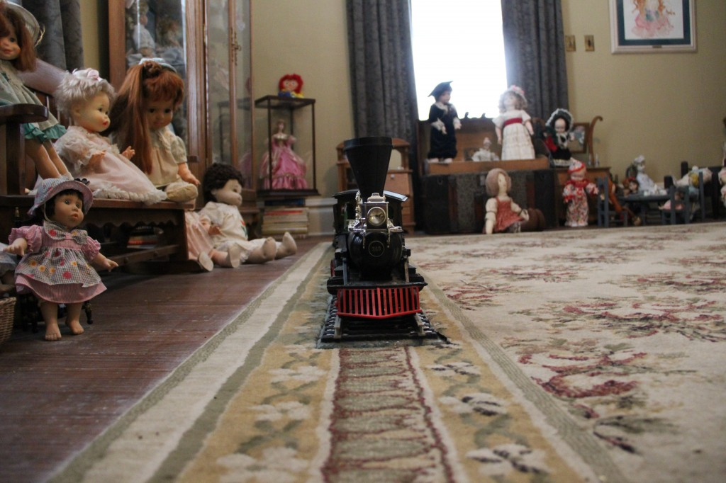 Dolls and Train at Rose Hill Manor