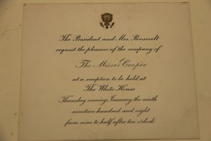 White House reception attended by Willie Cooper and Florence Stratton