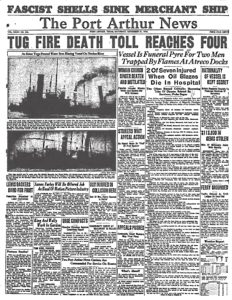 1936.11.21 Port Arthur News Tog fire death toll reaches four (full)